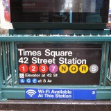 New York Metro sign for Times Square