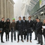 Argyros Students in New York snow