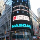 Nasdaq billboard with Chapman logo