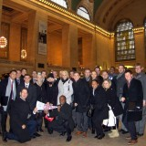 Argyros students and Dean on Wall Street