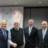 Jim Doti, Joel Stern, Dean Tom Turk and board member at Nov 13 DSS