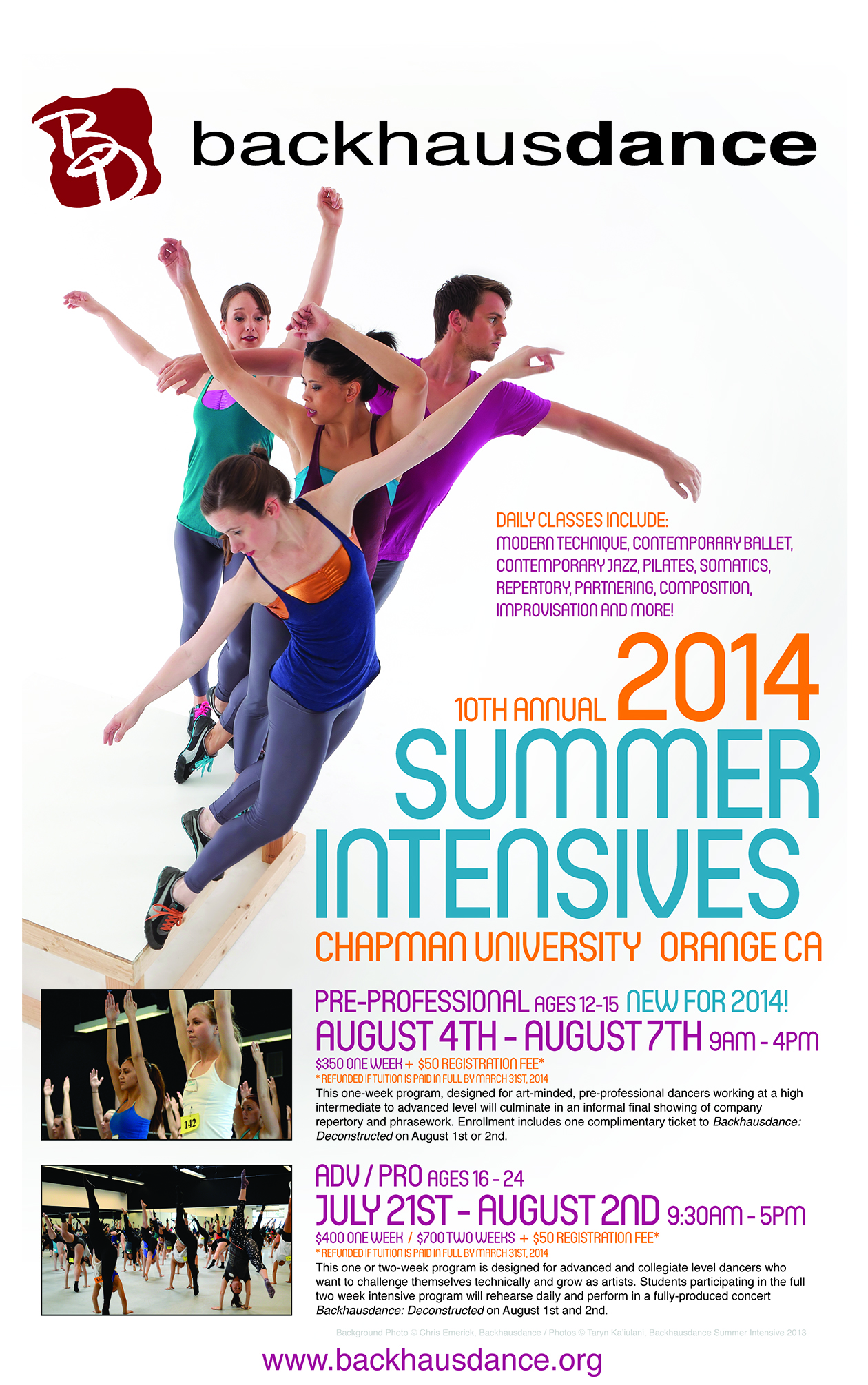 Backhausdance 2014 Summer Intensives connect dancers with