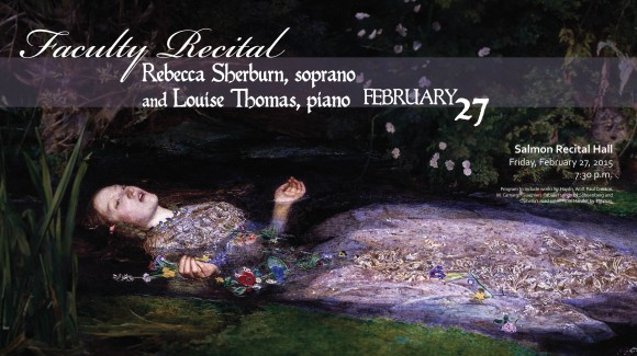 Flyer for Rebecca Sherburn Recital.