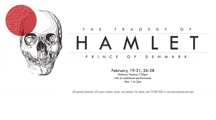 Flyer for Hamlet.