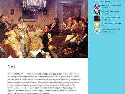 Screenshot for music soiree.
