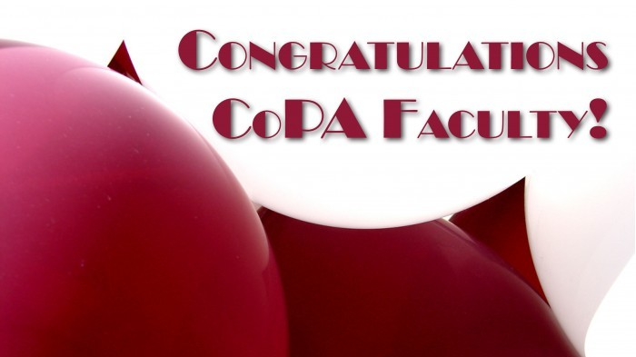 Congratulations CoPA Faculty!