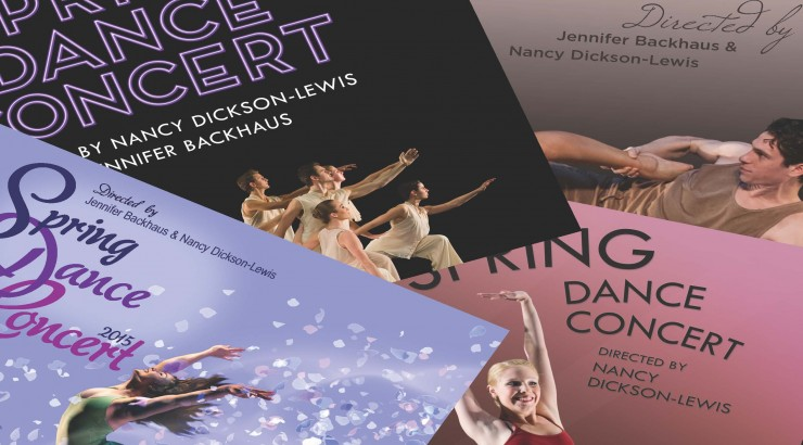 Collage of posters for plays by Nancy Dickson-Lewis.