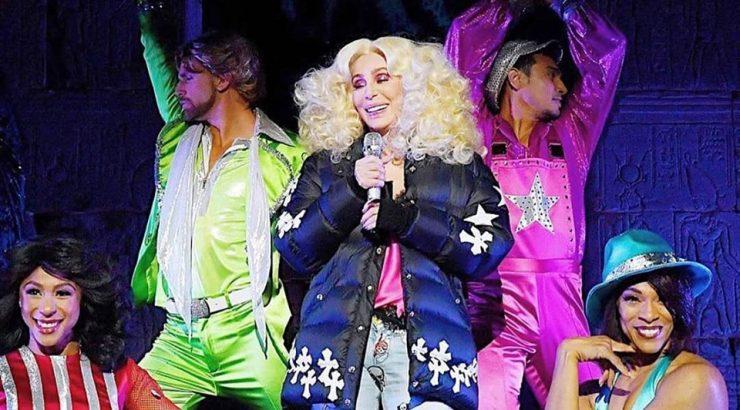 Ben Bigler onstage with Cher