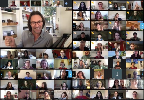 screen shot of virtual meeting attendees