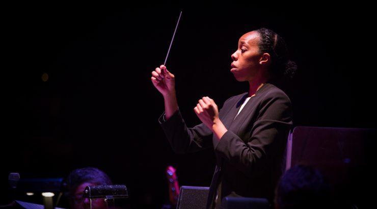 Kalena Bovell conducting