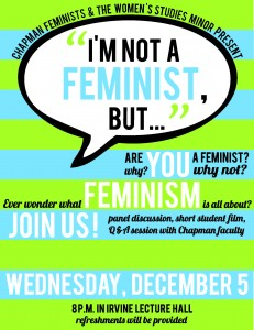 Poster for I'm Not a Feminist But