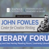 Poster for John Fowles Center for Creative Writing Literary Forum