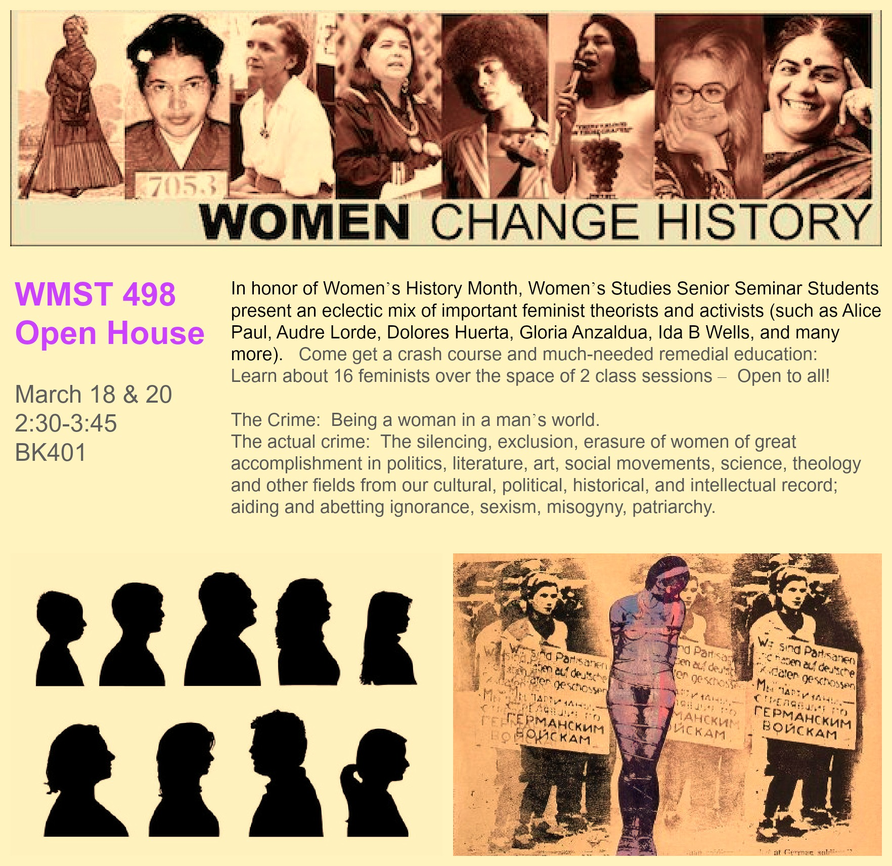 Flyer for Women Change History