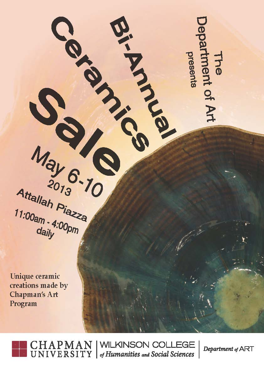 Flyer for Ceramics Sale