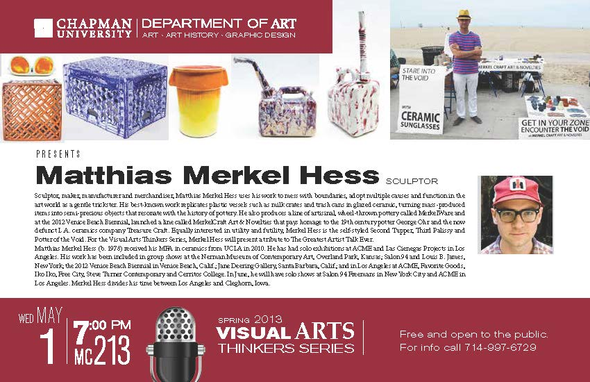 Flyer for Matthias Merkel Hess