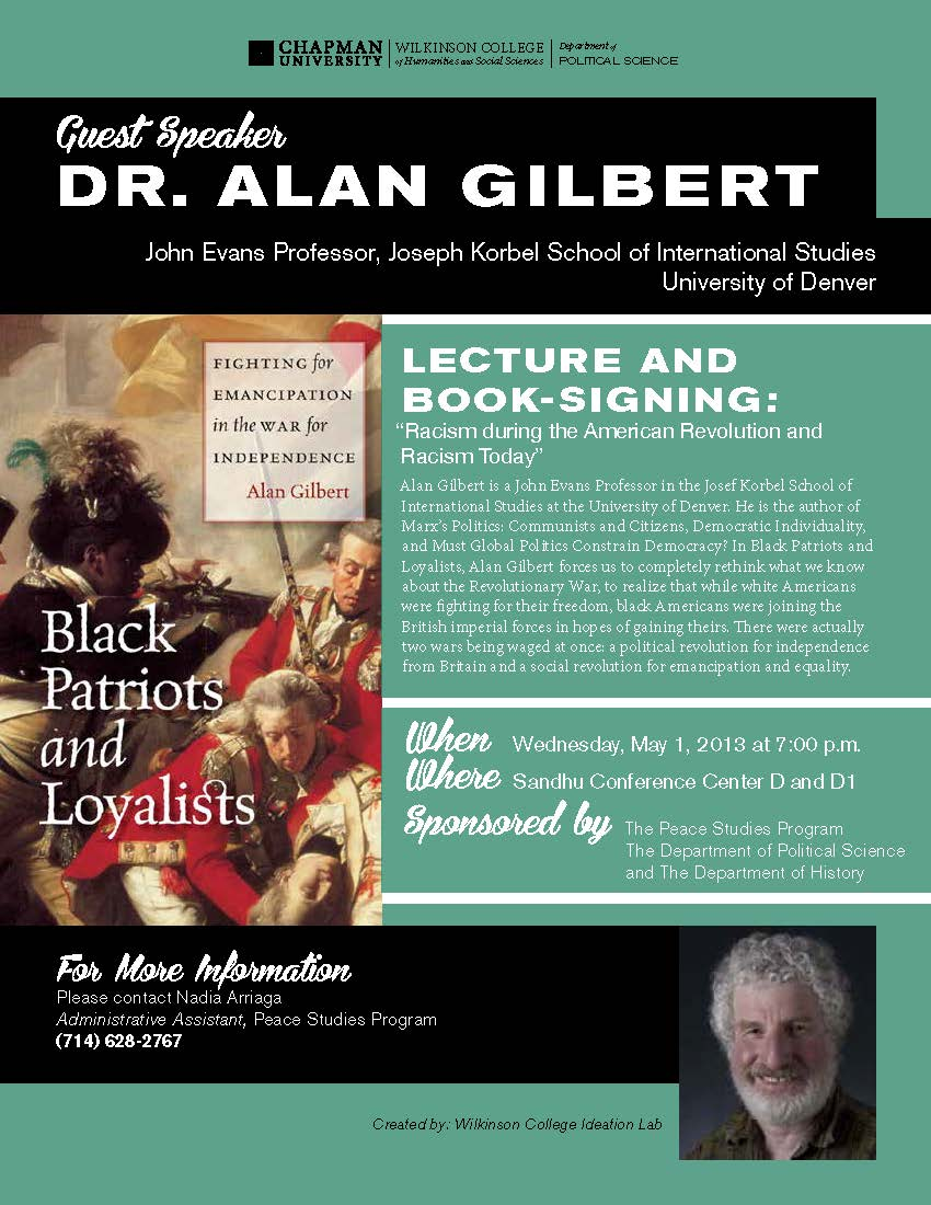 Flyer for Dr. Alan Gilbert lecture