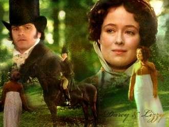 Collage of stills from Jane Austen movies.