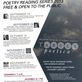 Poster for Tabula Poetica Poetry Reading Series 2013.