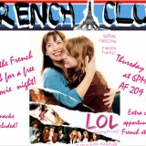 Poster for French Club LOL