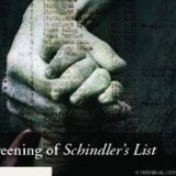 Flyer for Schindler's List screening.