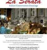 Flyer for La Serata