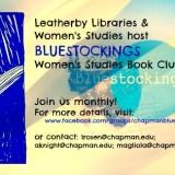 Flyer for Bluestockings Women's Studies Book Club
