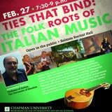 Flyer for Italian Folk Music event.