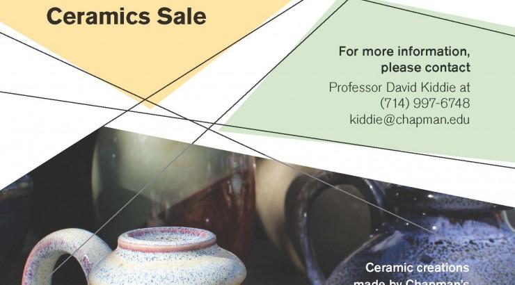 Flyer for Ceramics Sale
