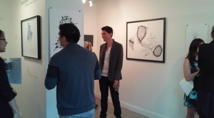 People in an art gallery.
