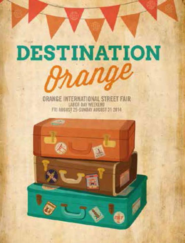 Flyer for Orange International Street Fair