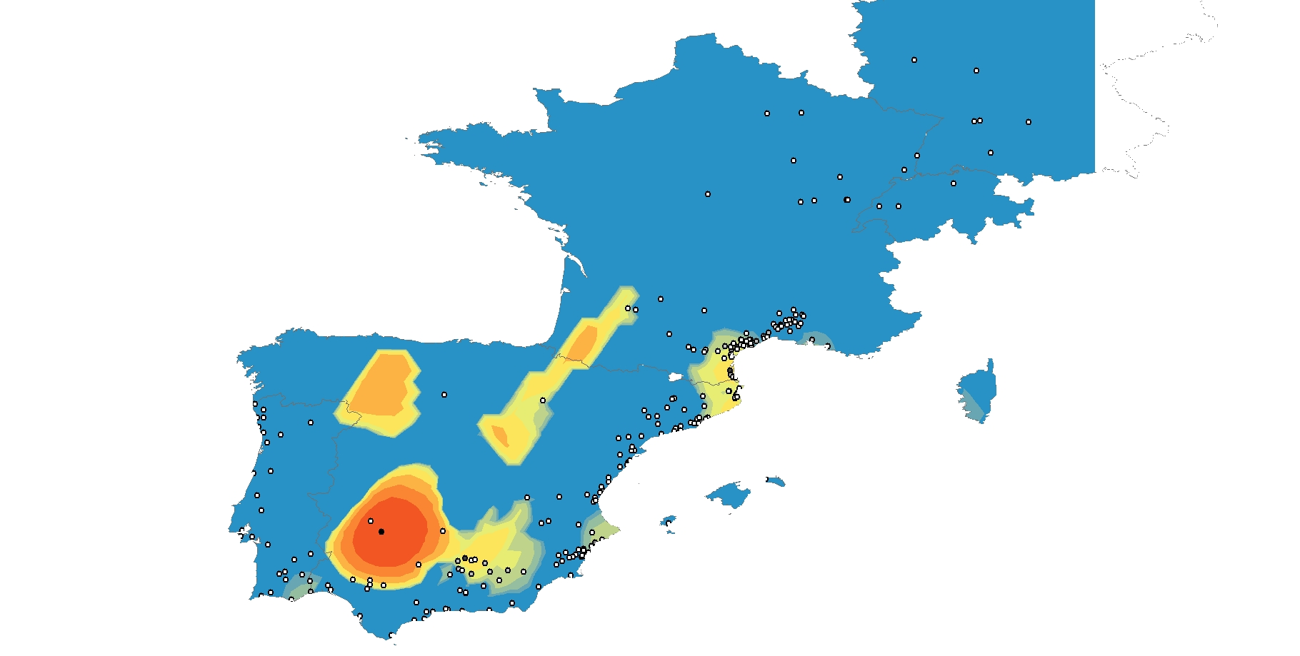 Map of Spain.