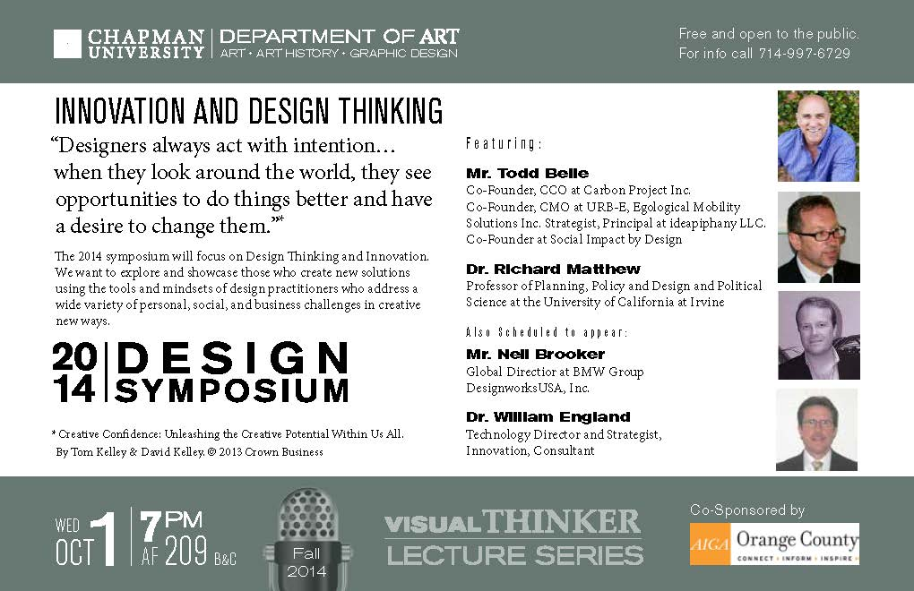 Flyer for Design Symposium.