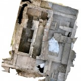 Photogrammetric reconstruction of the trenches excavated to reveal Building E -- an early Christian building -- at Cástulo.