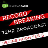 Flyer for Chapman Radio 72 Hour Broadcast