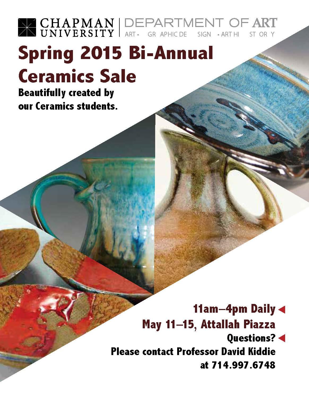 Flyer for Ceramics Sale.