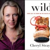 Author photo next to book cover of Wild.