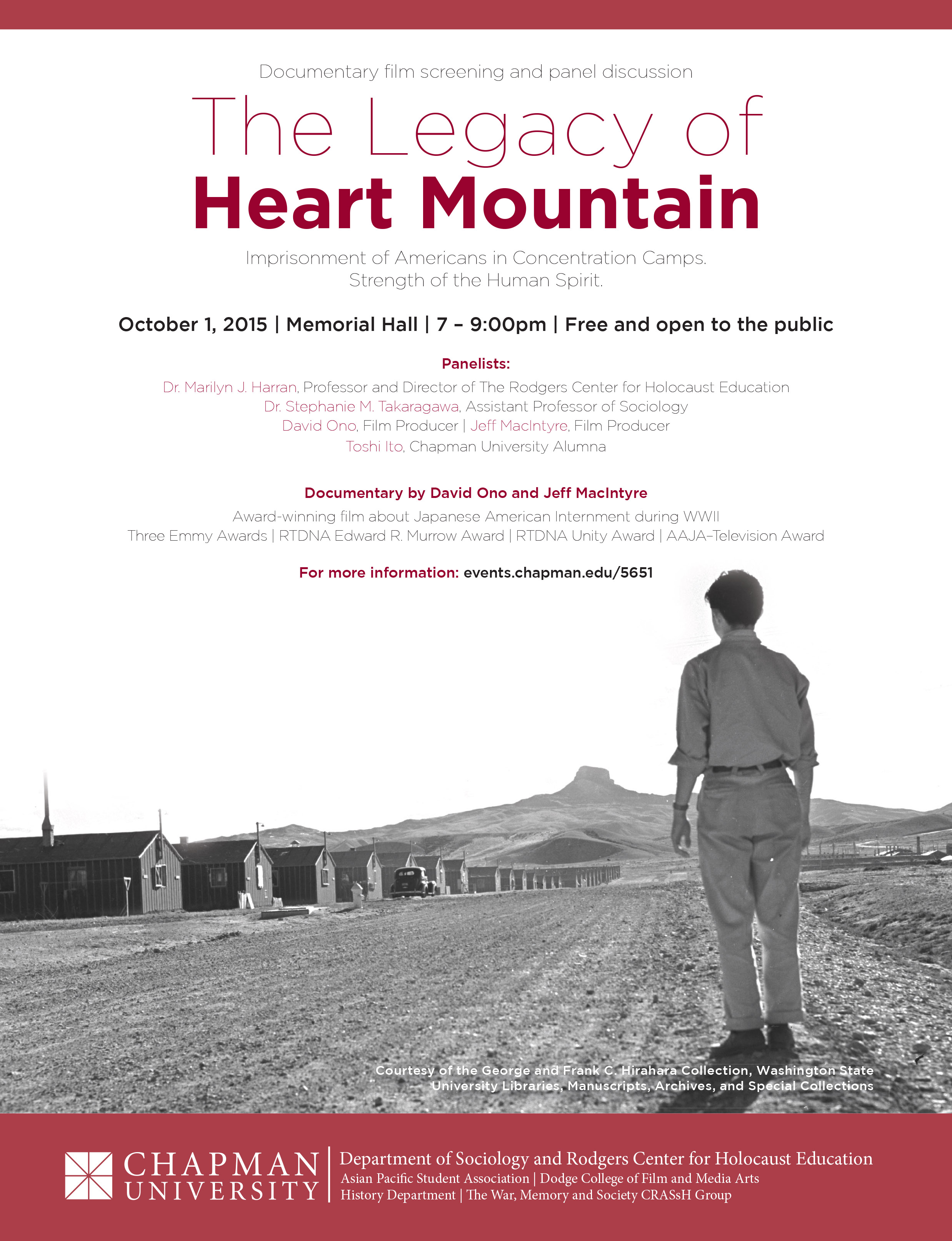 Flyer for Heart Mountain