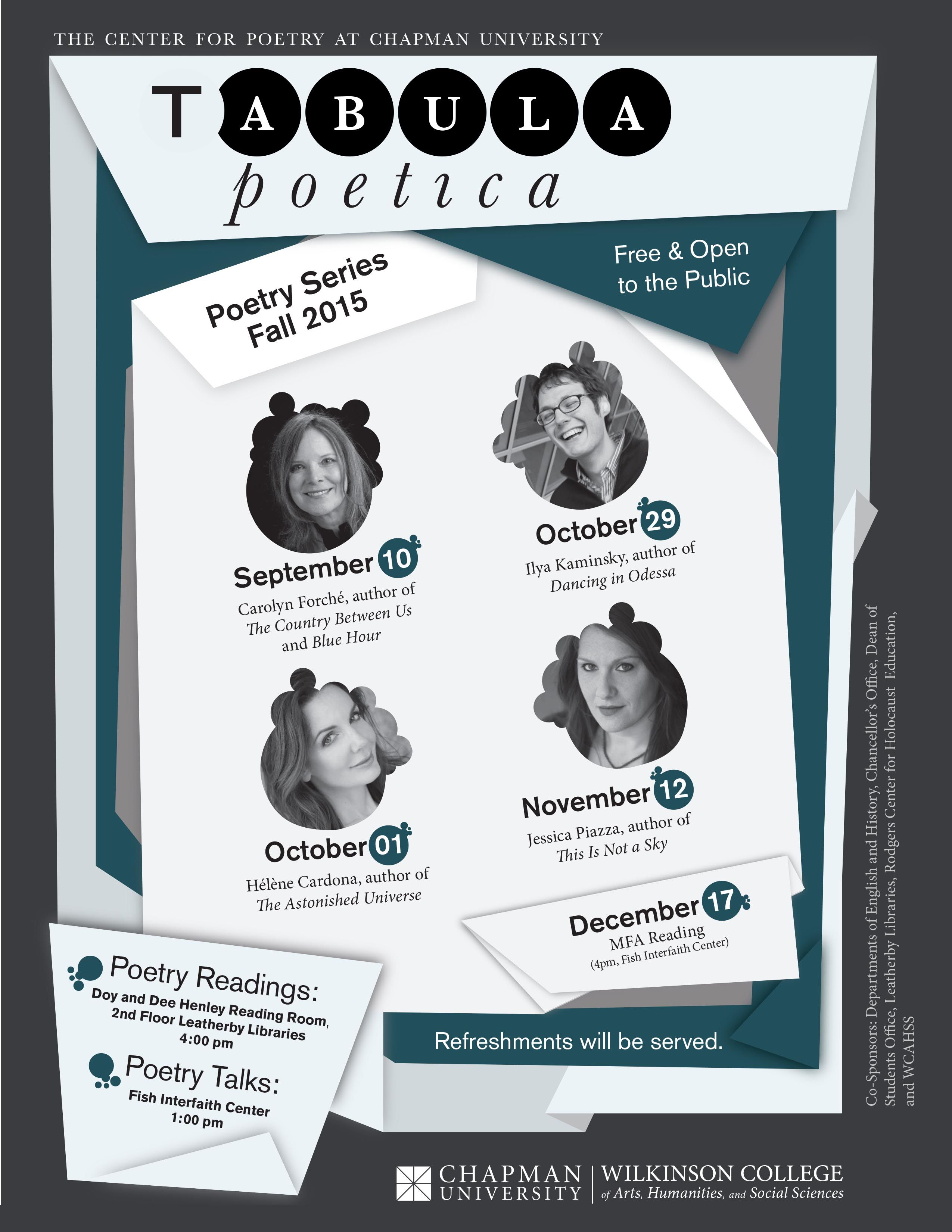 Flyer for Tabula Poetica.