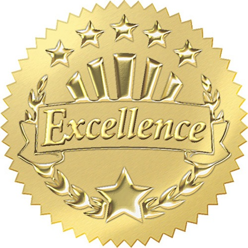 Excellence seal.