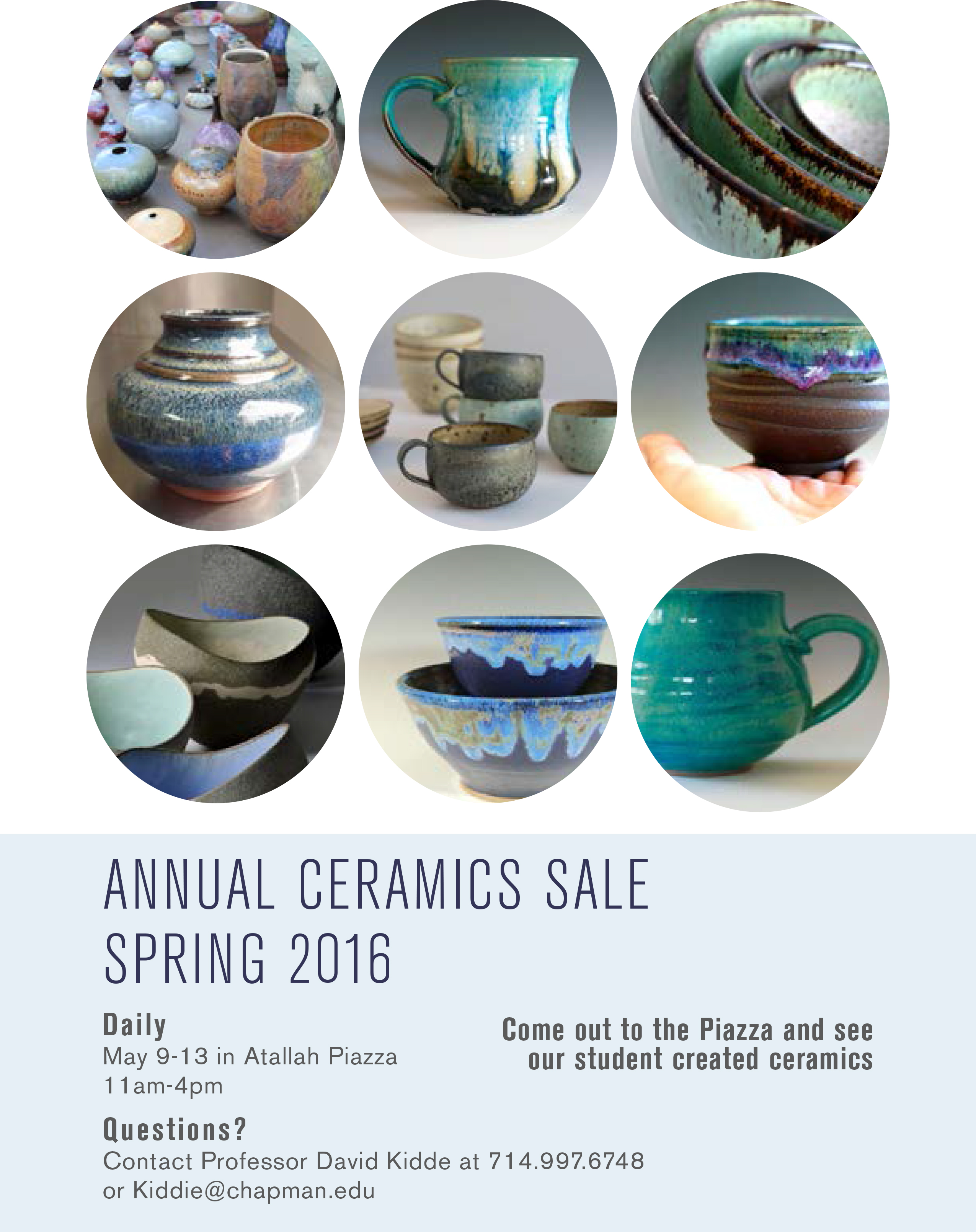 Flyer for annual ceramics sale.