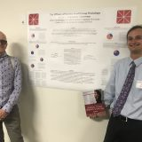 Dr. Ian Barnard and MA/MFA Student Daniel Strasberger at Chapman University's Graduate Student Research Showcase