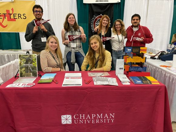 Chapman Creative Writing Graduate students in Chapman conference booth