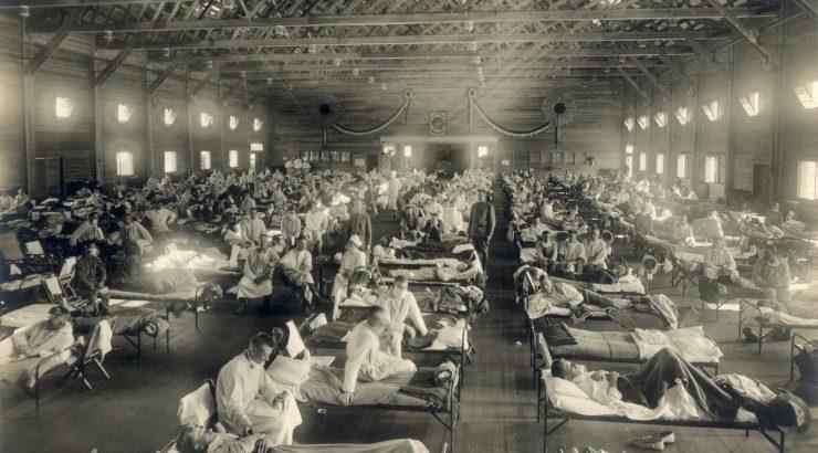 1918-flu-Camp-Funston-Ft.-Riley-Kansas-740x554