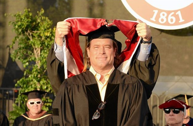 Sony Pictures President Steve Mosko receiving an honorary degree at Dodge College's Commencement in 2011.