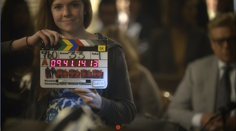 Chapman student on the set of Harry's Law