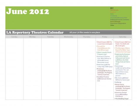 Cinephiles Dream June 2012