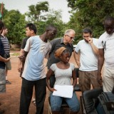 Chapman students on location in Burkina Faso, Africa