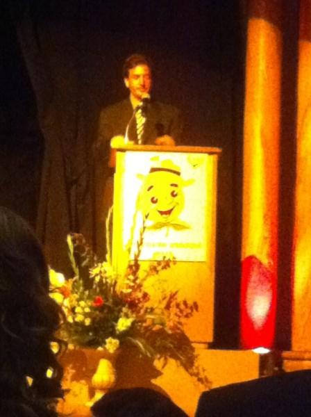 Professor Pete Weitzner at the OC Press Club Awards