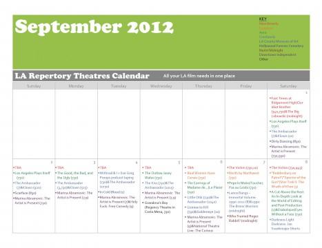 Cinephile's Dream September 2012