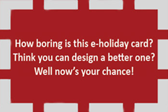 Dodge College holiday card design contest